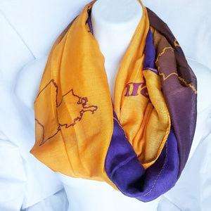 Louisiana Infinity Scarf LSU Purple Gold Soft